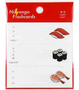 "Post-it japonais ""Nihongo flanshcards"" - Sushi"